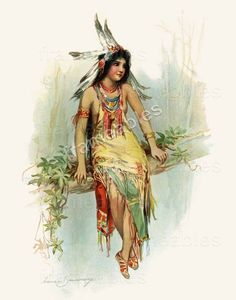 INDIAN MAIDEN by Frances Brundage - GICLEE ART PRINT New #Vintage