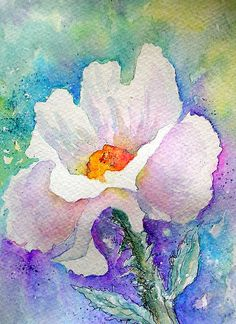 PRICKLY POPPY...WATERCOLOR WITH INK PAINTING