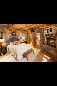 I would never leave this beautiful, cozy bedroom!
