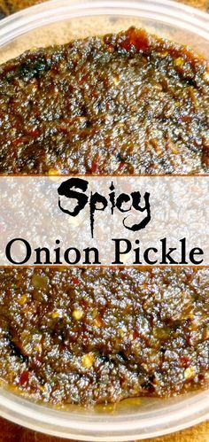 The simple onion we use every day in our cooking can be turned into a spicy tasteful pickle and can be stored for a long time. It is very easy to make with few ingredients and will not take more than 30 minutes for preparation.