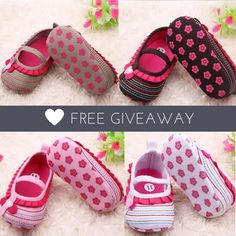 FREE GIVEAWAY!!!   Love Shoes For Little Baby Girls? We're giving away 200 of our Lovely Anya Shoes for FREE for the next 24 hours! Its regular price is $23.99 but you will just pay the insured shipping!  Grab yours HERE! --> www.bit.ly/free_anya