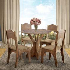 Se você quer deixar seu ambiente mais sofisticado, esta mesa é ideal pra você. ;) Com um visual rústico, proporcionará requinte e elegância para seu cômodo. :D     #decoração #design #madeiramadeira