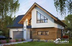 Elsa II - Dobre Domy Flak & Abramowicz Flat House Design, Minimal House Design, Minimal Home, House Roof, Facade House, Modern Exterior, Exterior Design, Bungalow Conversion, Bungalow Renovation