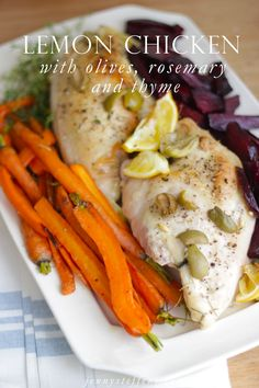 Roasted Lemon Chicken with Rosemary, Thyme & Olives
