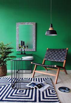 Vert Noir blanc et bois