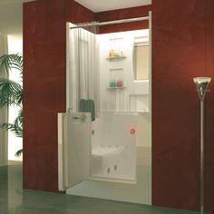 Macaw 3140RWS 31x40x40  ADA Walk In Soaking Bathtub   Soaking BathtubsShower  EnclosureBath  walk in tub shower combo   home bath tubs showers meditub m2747  . Walk In Tub With Shower Enclosure. Home Design Ideas
