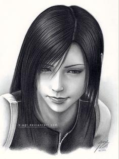 Tifa drawing 4 by B-AGT.deviantart.com on @deviantART