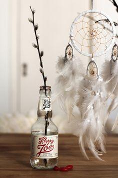 Cider bottles as vases // RAW Design blog