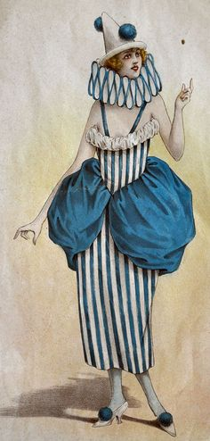 Eiffel Vintage - Reminds me of my mom she loved clowns. Old Circus, Circus Art, Circus Clown, Circus Theme, Circus Birthday, Birthday Parties, Vintage Circus Costume, Vintage Clown, Vintage Carnival