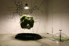 Tomás Saraceno: Lighter than Air Green Building, Art Plastique, Architecture, Grass, Contemporary Art, Gallery, Garden, Plants, Google