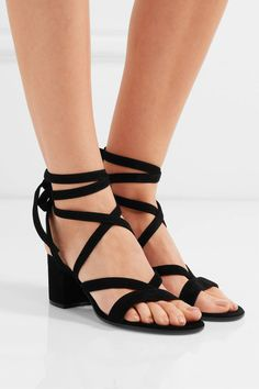 Gianvito Rossi - Suede Sandals - Black - IT41.5