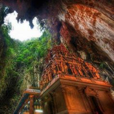 Temple Deep in the Caves Borneo, Indonesia