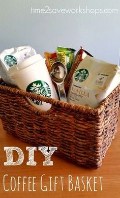 13 Themed Gift Basket Ideas for Women, Men & Families! 13 Themed Gift Basket Ideas for Women, Men & Families!,UNIQUE GIFTS These 13 themed gift basket ideas will kick your gift-giving game up a. Themed Gift Baskets, Diy Gift Baskets, Christmas Gift Baskets, Raffle Baskets, Diy Christmas Gifts, Coffee Gift Baskets, Basket Gift, Homemade Gift Baskets, Basket Bag