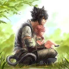 FINAL FANTASY XIV: A REALM REBORN - Miqo'te Noct and Lalafell Light by Relear