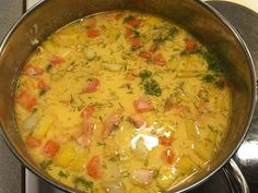 Bouillabaissea ja Kalasoppaa Wok, Cheeseburger Chowder, Fish, Chicken, Meat, Soups, Pasta Meals, Easy Meals, Soup