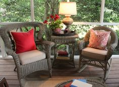 Seating for screened in porch