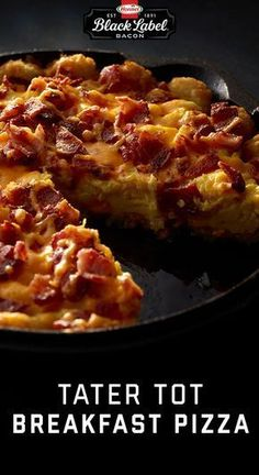 The Best Thing About This Tater Tot Breakfast Pizza Is Whatever You Decide To Pu. Tator Tot Breakfast, Breakfast Pizza, Breakfast Dishes, Best Breakfast, Breakfast Ideas, Breakfast Burritos, Morning Breakfast, Healthy Sweet Snacks, Healthy Breakfast Recipes