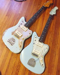 Artoo meets Detoo. @caemusic's truly spectacular Fender Custom Shop Jazzmaster was a joy to work on and behold! It was in need of a good setup when it arrived, and Chandler feared that removing the buzz stop would give him too much of the string...