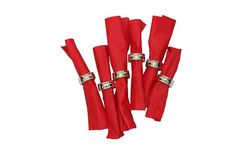 6PC Silver Napkin Rings Holder Set Table Serviette Wedding Banquet Decor Vintage #Highlands