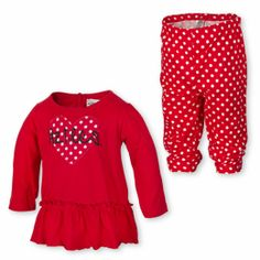 This infant shirt and leggings feature a heart with Aztecs in the middle by Garb.  $30.