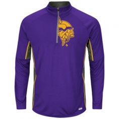 Find the Men s Minnesota Vikings Mock Neck Tee - Purple by at Mills Fleet  Farm. ac4229ed0
