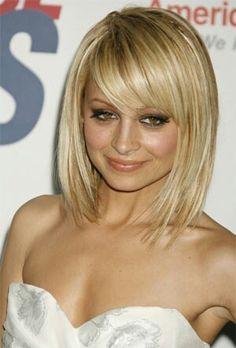 Blonde meduim bob. I always love her hair!