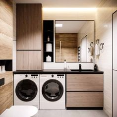 32 Inexpensive Tiny Laundry Room Design Ideas - Common Decorating for a Fresh Look Modern Laundry Rooms, Laundry Room Layouts, Laundry In Bathroom, Small Bathroom, Bathroom Ideas, Tiny Bathrooms, Budget Bathroom, Master Bathroom, Laundry Room Design