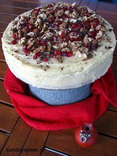Βασιλόπιτα κέικ με καρύδια και βουτυρόκρεμα • sundayspoon