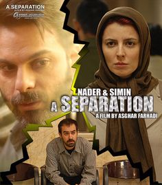 A Separation (2011) --- This Iranian film focuses on a middle-class couple who separate, and the conflicts that arise when the husband hires a lower-class care giver for his elderly father, who suffers from Alzheimer's disease.