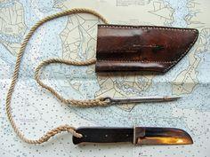 Ka-bar Sailors Rigging Knife and Marlin Spike with sheath
