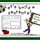 This is a sentence builder set ideal for emergent writes or special education. Student will complete the following activities:    1. Trace the senten...