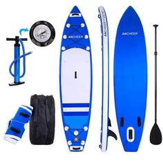 Kemanner Inflatable Stand Up Paddle Board Double-Layer SUP Board Kit Thick ISUP Board) Includes Adjustable Paddle, Travel Backpack And Pump (Blue) Paddle Board Surfing, Standup Paddle Board, Paddle Boarding, Best Paddle Boards, Sup Boards, Stand Up Surf, Sup Stand Up Paddle, Best Inflatable Paddle Board, Kayak Seats