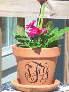 Decorating the pot! How cool! -The High Heeled Hostess: Flower (pot) Power!