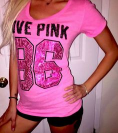 Victoria's Secret LOVE PINK BLING T shirt top snakeskin metallic LOGO RARE euc S #VictoriasSecret #GraphicTee