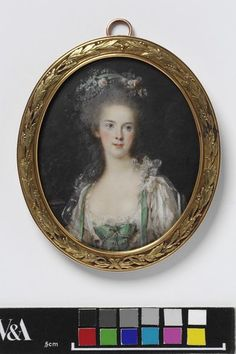 An Unknown woman; Miniature portrait of a lady, 1770s,  Pierre Adolphe Hall, V&A