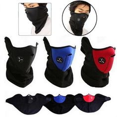 Outdoor Thermal Fleece Half Face Mask Cycling bike Mask Windproof  Headwear Motorcycle Face Mask Winter Sports Ski Snowboard *** Details on product can be viewed by clicking the VISIT button
