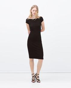 Image 1 of V-BACK RAYON DRESS from Zara