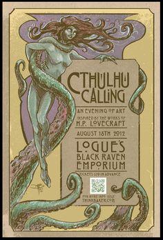 CTHULHU CALLING 2012Poster art by Adam Baker