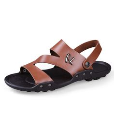Aliexpress.com: Comprar Más tamaño genuino de cuero sandalias de los hombres, 2016 nuevos zapatos hechos a mano ocasional de calidad superior del verano para hombre #8810 de sandalia zapatos de golf fiable proveedores en HECRAFTED handmade shoes Flagship Store