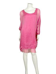 Seidenkleid, pink - Diana