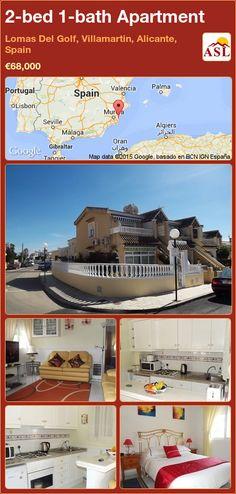 2-bed 1-bath Apartment in Lomas Del Golf, Villamartin, Alicante, Spain ►€68,000 #PropertyForSaleInSpain