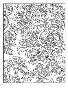 Dover Coloring Book Paisley Designs