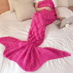 Pink Mermaid Blanket
