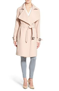 Diane von Furstenberg 'Anouk' Soft Twill Long Trench Coat available at #Nordstrom
