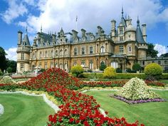Waddesdon Manor Gardens Buckinghamshire, England - The house was built in the Neo-Renaissance style of a French château between 1874 and 1889 for Baron Ferdinand de Rothschild