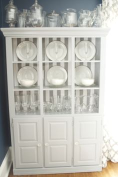 Hutch China Cabinet Redo With ASCP Coco Chalk Paint