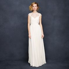 Simple and so gorgeous. Perfect for a courthouse wedding. J.Crew - Beatriz gown