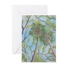 SOUTHERN TREES Greeting Cards