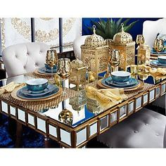 Casablanca, Decoraciones Ramadan, The Colour Of Spring, Affordable Modern Furniture, Beautiful Table Settings, Gold Table, Home Decor Store, Dinnerware Sets, Dinner Table