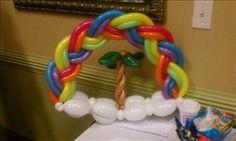 Scott Kazan braided rainbow and bird body clouds